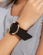 Czarna szeroka minimalistyczna bransoletka hit