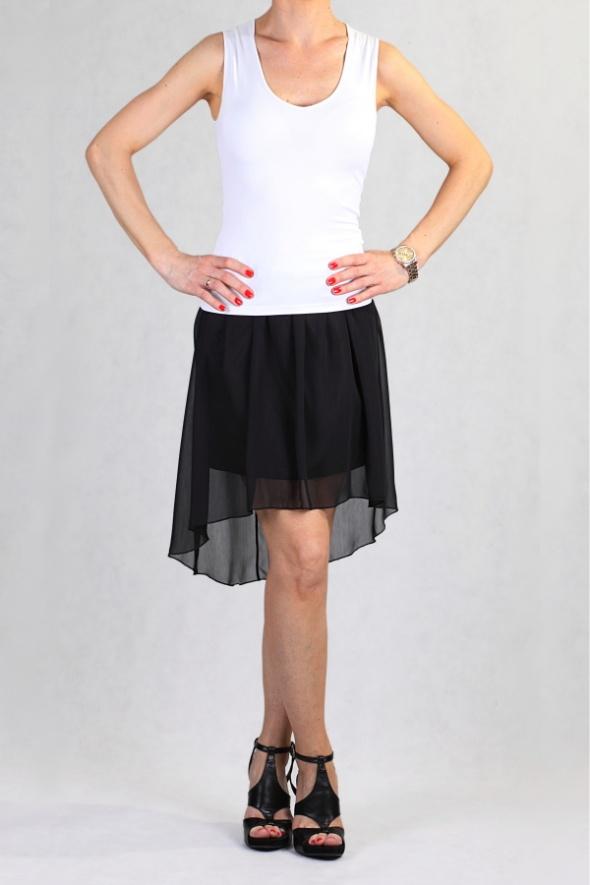 Spódnice Czarna Asymetryczna Spodniczka HIT