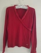 Bluzka sweterek czerwony haft m l Tiffi...