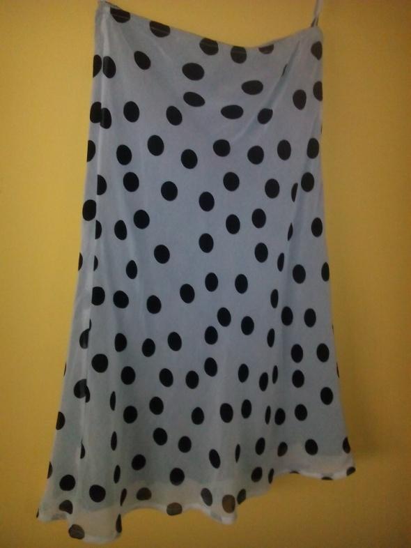 Spódnice szara spódnica w kropki promod