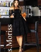 Sukienka czarna koronkowa S Moriss