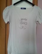 Bluzka koszulka top z kokardkami