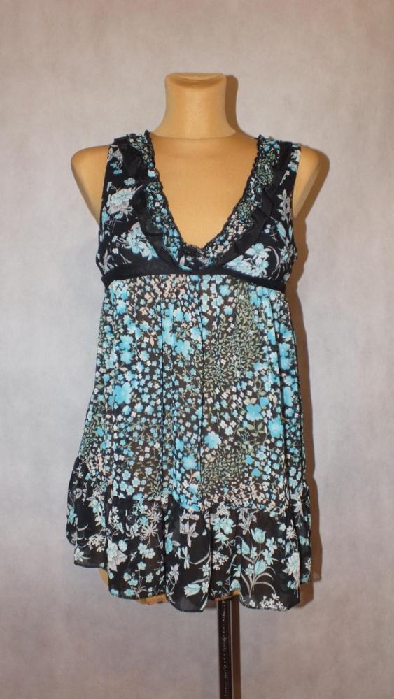 Suknie i sukienki Niebieska sukienka w kwiatki AX Paris Nowa z metką
