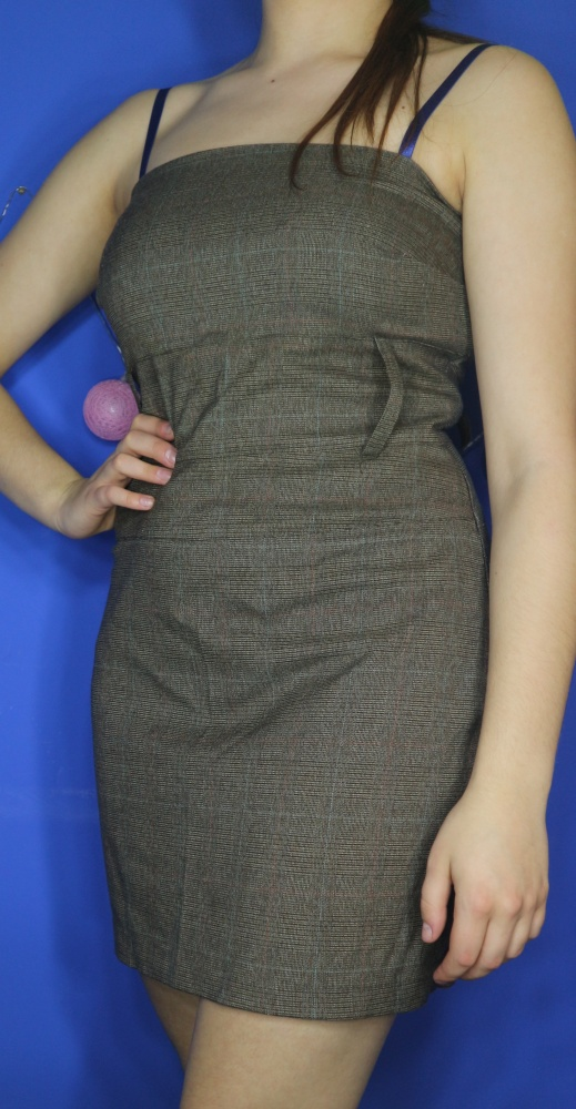 sukienka mini bez ramion