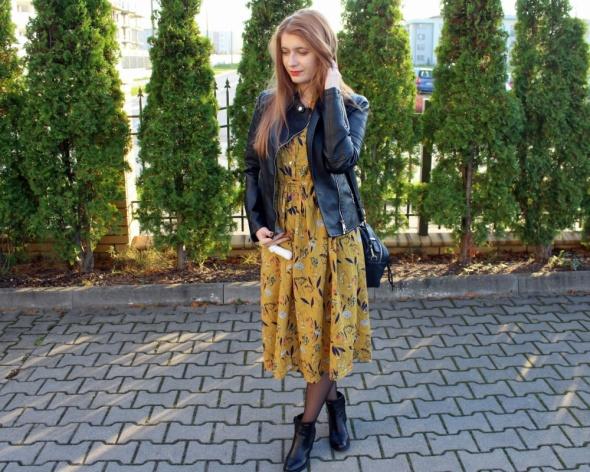 Blogerek Kwiatowa sukienka midi