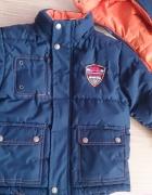 Gruba ciepła kurtka zimowa dla chłopca 110 116