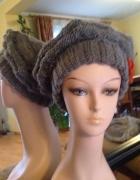 Szary beret Alpaka hand made...