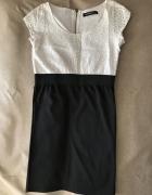 Sukienka z białą koronkową górą rozm S...