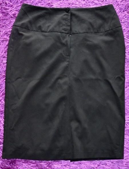 Spódnice Czarna spódnica ołówkowa z podwyższonym stanem