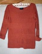 Sweter ceglasty oversize...