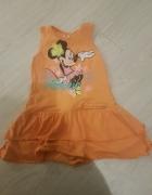 pomarańczowa minnie sukienka