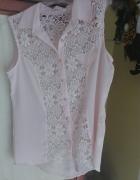 Różowa bluzeczka z koronka