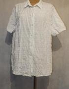 Biała wizytowa bluzka koszula Rozmiar 50