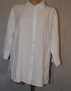 Biała wizytowa klasyczna bluzka koszula NKD 50