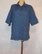 Granatowa ażurowa bluzka Rozmiar 48
