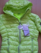 kurtka limonkowa pikowana 4F extra light