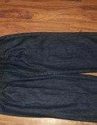 jeansowe spodnie alladynki...