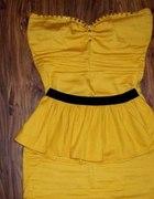 Sukienka z baskinką i ćwiekami jak Zara...