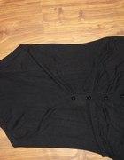 sweterkowa czarna długa kamizelka na guziki...