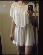 TOPSHOP biała mgiełka sukienka