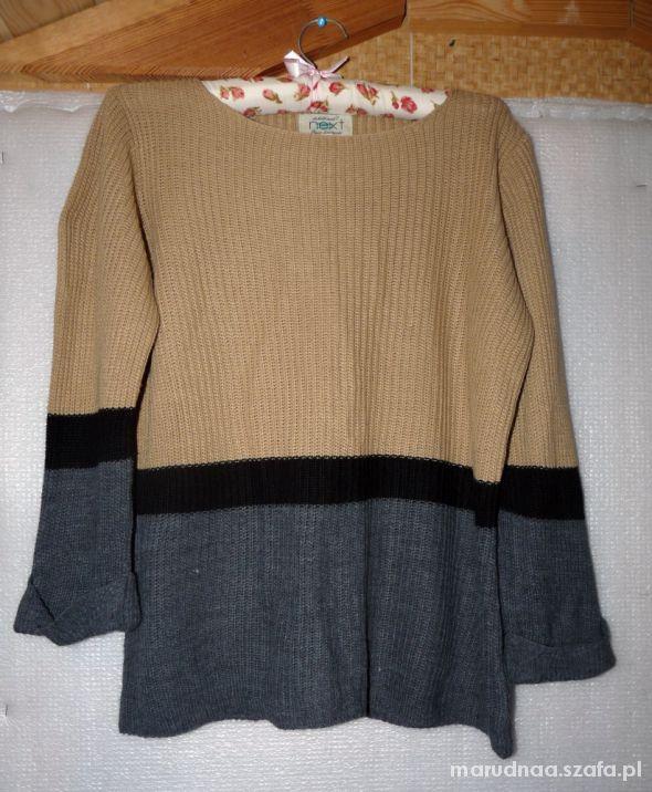 Swetry Trójkolorowy sweter sweterek musthave blogerski