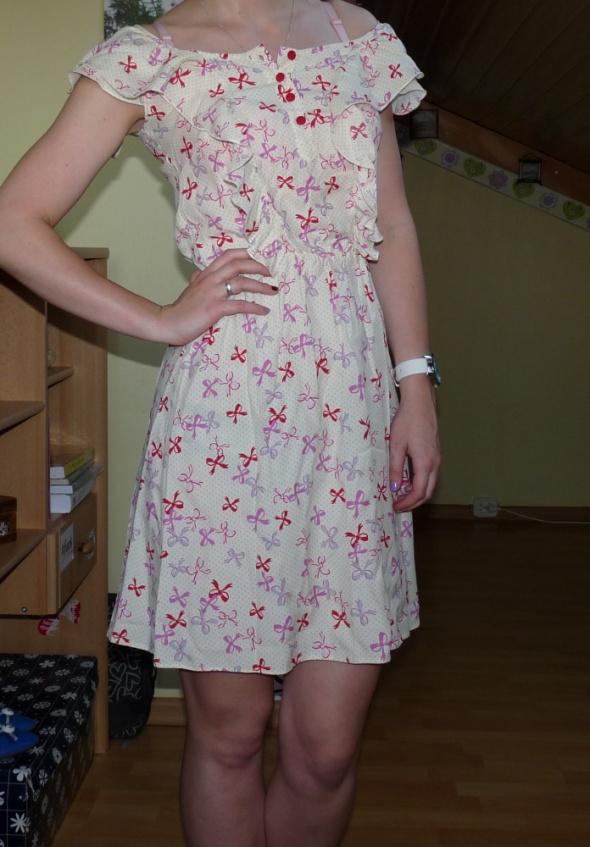 Słodka dziewczęca sukienka lato falbanki...