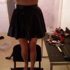 skórzana rozkoszowana spódnica