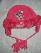 Disney różowa czapka polar roz 12 18 msc
