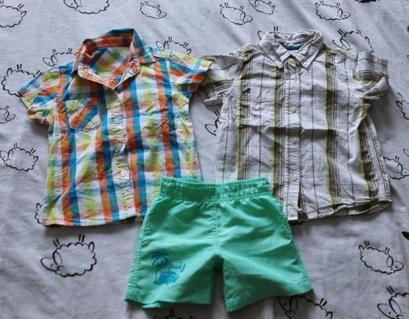 Koszulki, podkoszulki Zestaw dwie koszule spodenki 92 98