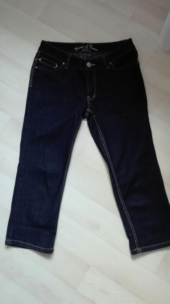 Rybaczki jeansowe spodenki pas 86 cm