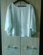 Biała bluzeczka mgiełka L