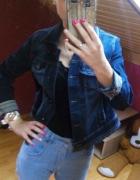 Kurta jeansowa katana ozdobne mankiety...