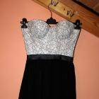 Asymetryczna sukienka gorsetowa góra