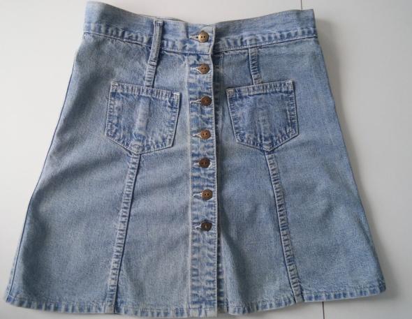 Spódnice Modna spódnica jeansowa na guziki