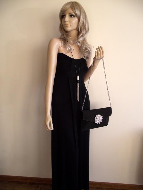 0fe677adcc Suknie i sukienki Długa dzianinowa sukienka maxi w kolorze klasycznej czerni