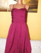 Bordowa sukienka Club Monaco 36 38
