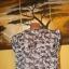Biała bluzeczka w czarny wzorek Vila 40 L 12