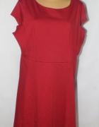Bordowa elegancka sukienka Rozmiar 52