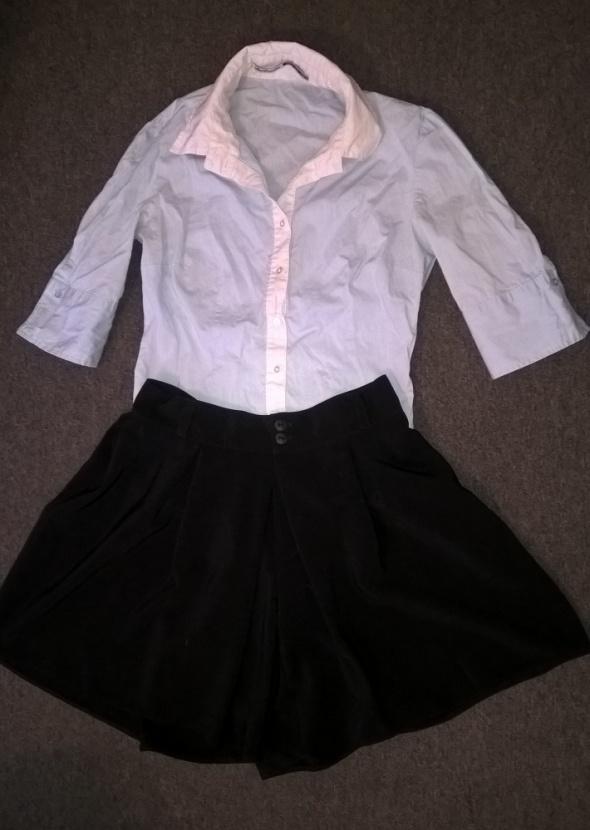 spódnico spodnie S czarne rozkloszowane NOWE...