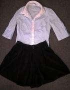 spódnico spodnie S czarne rozkloszowane NOWE
