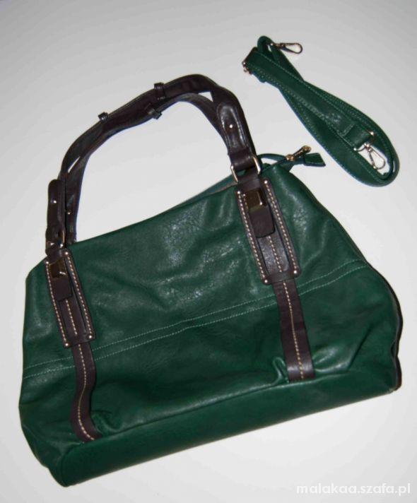 Zielona torba A4 z pasekiem