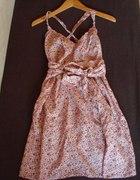 Sukienka w kwiaty OYSHO różowa NOWA