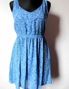 Zwiewna sukienka gołe plecy r XL