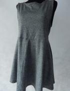 H&M Idealna MELANŻ sukienka dekolt 40 42