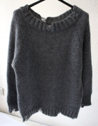 modny szary sweter