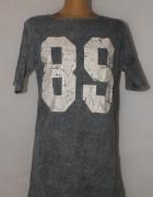 Szara dresowa sukienka 89 Marmurek Oversize 44