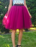 Piękna tiulowa spódnica z koła na kole puszysta