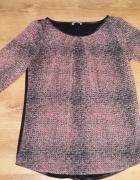 modna bluzka czarna maziaki tył czarny orsay 36