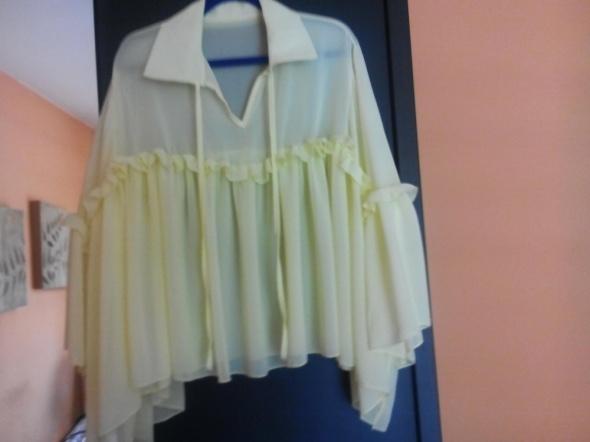 Żółta oversizowa bluzeczka