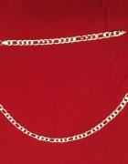 Figaro naszyjnik bransoletka 925 platerowane srebrem komplet
